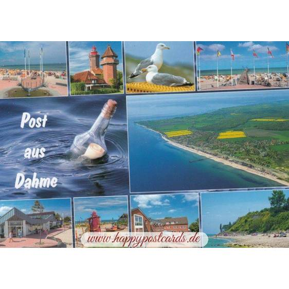 Mail from Dahme - Postcard