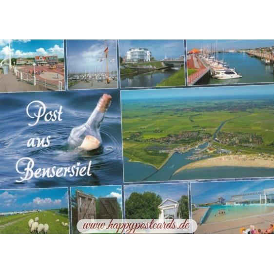 Post aus Bensersiel - Ansichtskarte
