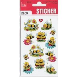 Lustige Bienen Sticker
