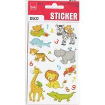 Little animals and numbers Sticker