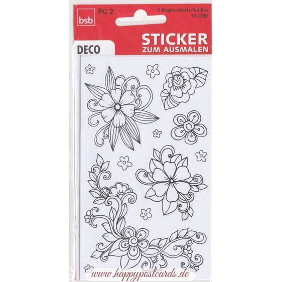Flowers to colour Sticker