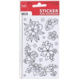 Blumen zum Ausmalen Sticker