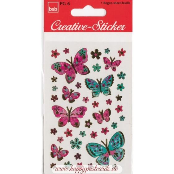 Butterflies Goldfoil - Sticker
