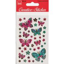 Butterflies Goldfoil - Sticker