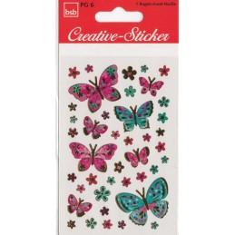Schmetterlinge Goldfolien- Sticker