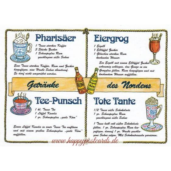 Drinks from the North Recipe - Postcard
