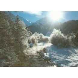 Berge im Schnee  - Ansichtskarte