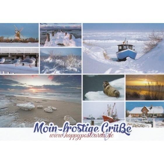 Snowy greetings - Viewcard