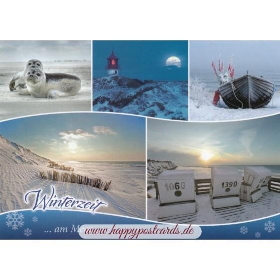 Wintertime at the Sea - Viewcard