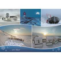 Wintertime at the Sea - Viewcard