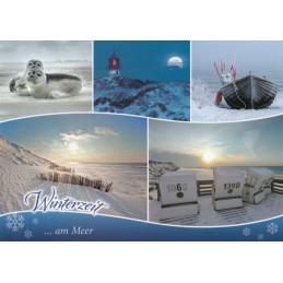 Winterzeit am Meer - Ansichtskarte