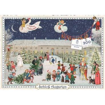 Fröhliche Weihnachten - Schloß Augarten - Tausendschön - Weihnachtskarte