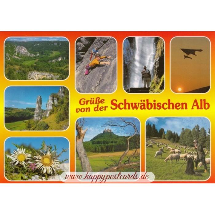 Schwäbische Alb Karte Städte.Schwäbische Alb 1 Ansichtskarte