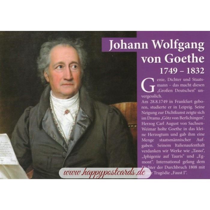 Johann Wolfgang Von Goethe Chroniclecard