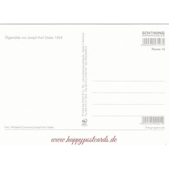 Johann Wolfgang von Goethe - Chronikkarte