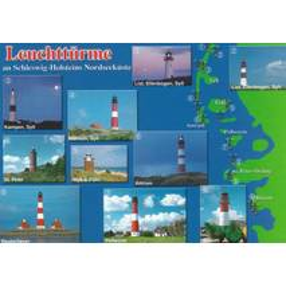 Leuchttürme in Schleswig-Holstein - Ansichtskarte
