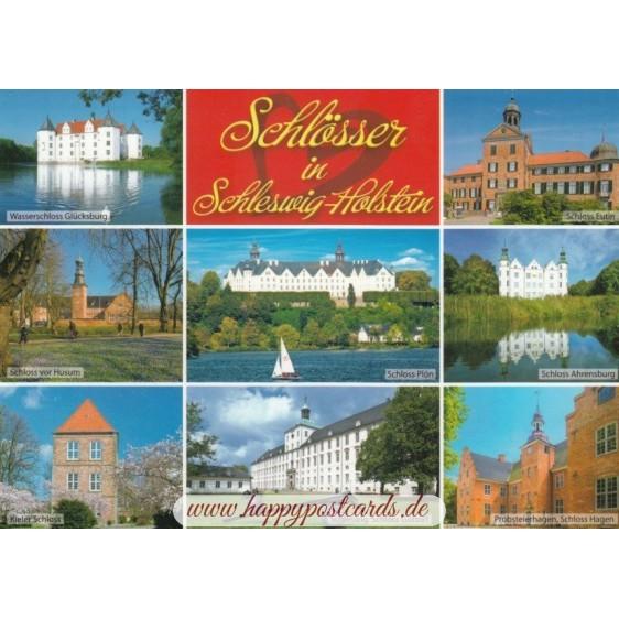 Castles in Schleswig-Holstein - Viewcard