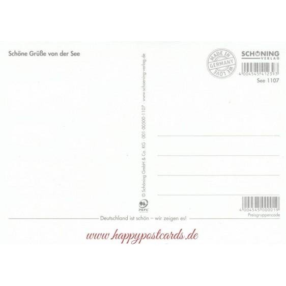 Snacks von de Waterkant - Postkarte