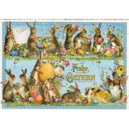 Frohe Ostern - Lustige Hasen - Tausendschön - Osterkarte