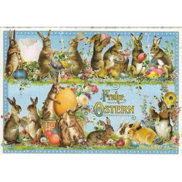 Frohe Ostern - Lustige Hasen - Tausendschön - Weihnachtskarte