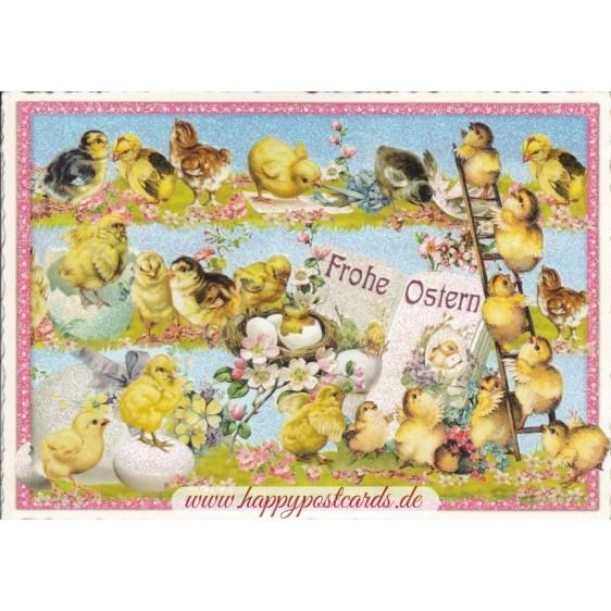 Frohe Ostern - Küken - Tausendschön - Weihnachtskarte