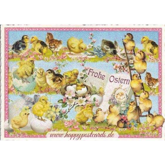 Happy Easter - Chicken - Tausendschön - Postcard