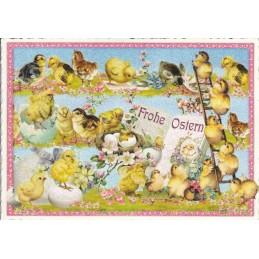 Happy Easter - Chicken - Tausendschön - Postcard