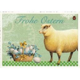 Frohe Ostern - Lamm - Tausendschön - Osterkarte