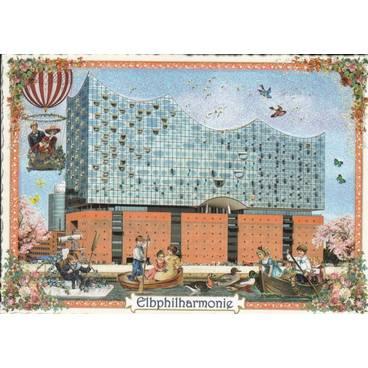 Hamburg - Elbphilarmonie - Tausendschön - Postkarte