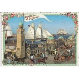 Hamburg - Landungsbrücken - Tausendschön - Postcard