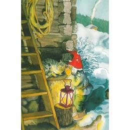 224 - Zwerg schmust mit Katze - Löök Postkarte