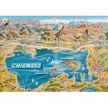 Chiemsee - Map - Postkarte