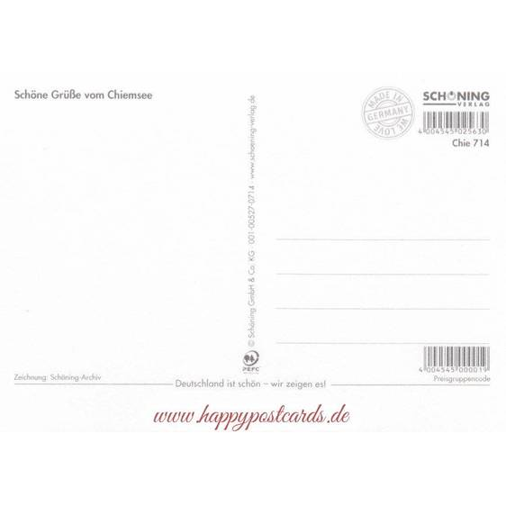 Chiemsee - Map - Postkarte