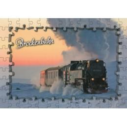 Die Brockenbahn - Puzzlerand - Ansichtskarte
