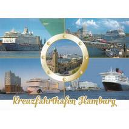 Hamburg - Kreuzfahrthafen - Ansichtskarte