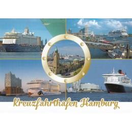 Hamburg - Port - Viewcard