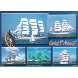 Schiff Ahoi - Segelschiffe - Ansichtskarte