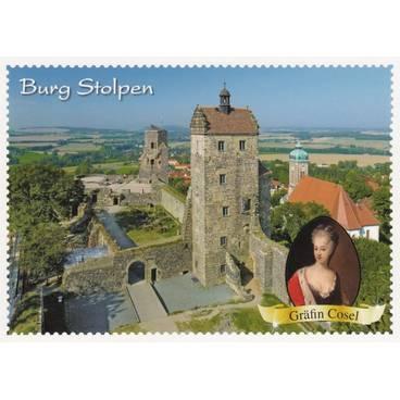 Burg Stolpen - Briefmarkenrand - Ansichtskarte