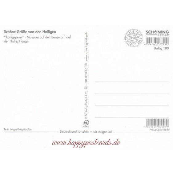 Halligen - Königspesel - Viewcard