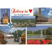 Bottrop heart- Viewcard