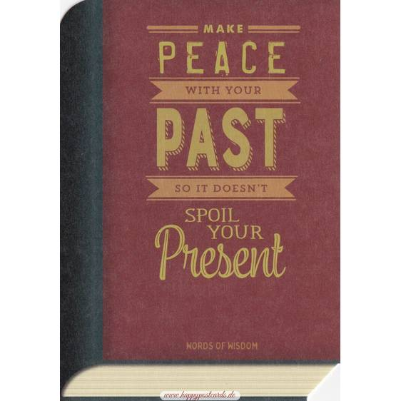 Peace and Past - BookCARD
