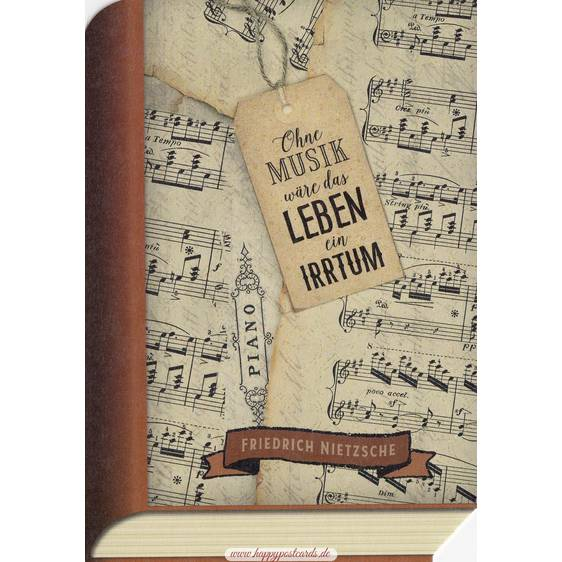 Nietzsche Musik - BookCARD