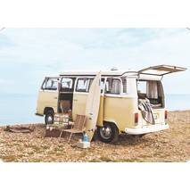 VW bus at the beach - Medley postcard