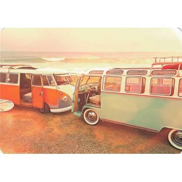 Alte Busse am Strand - Medley-Postkarte