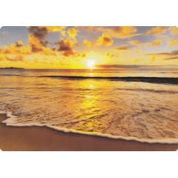 Sonnenuntergang am Strand - Medley-Postkarte