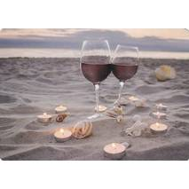Wine at the beach - Medley postcard