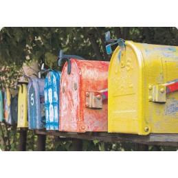 Briefkästen - Medley-Postkarte