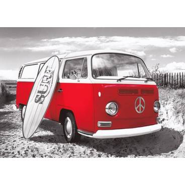 Roter VW-Bus