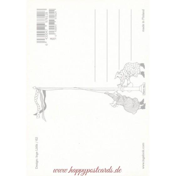 62 - Frauen beobachten die Vogelscheuche - Löök Postkarte