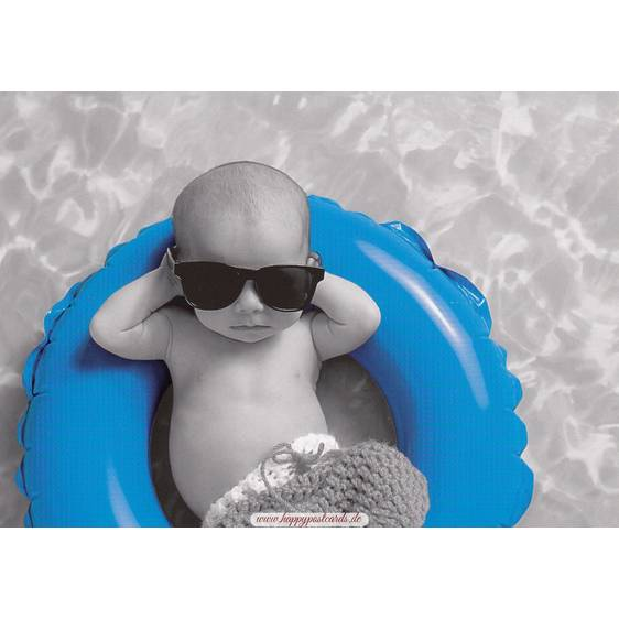 Baby am Chillen - Kontraste-Postkarte